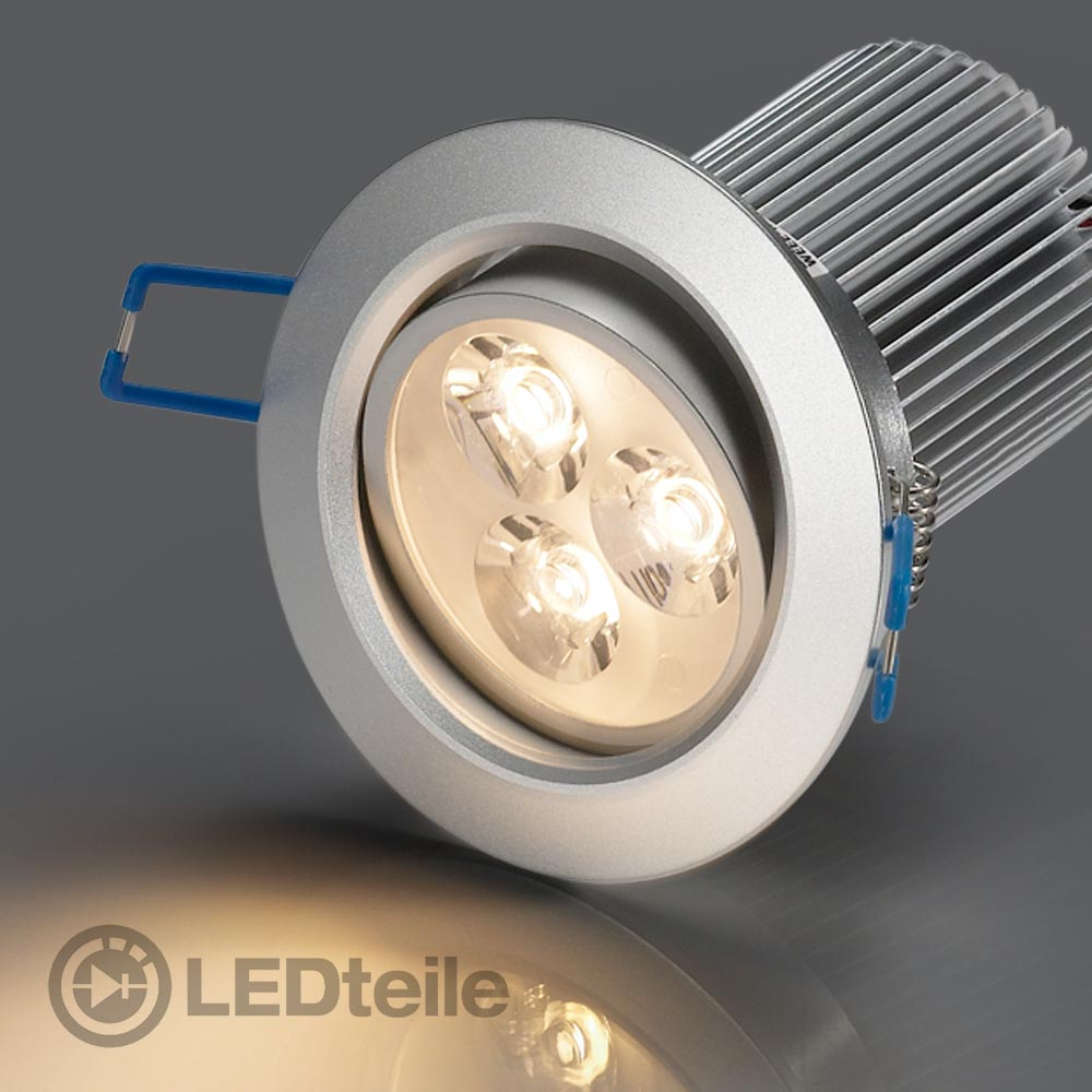 10x led einbaustrahler 9w warmweiss einbauleuchte lampe 230v smd leuchte ebay. Black Bedroom Furniture Sets. Home Design Ideas