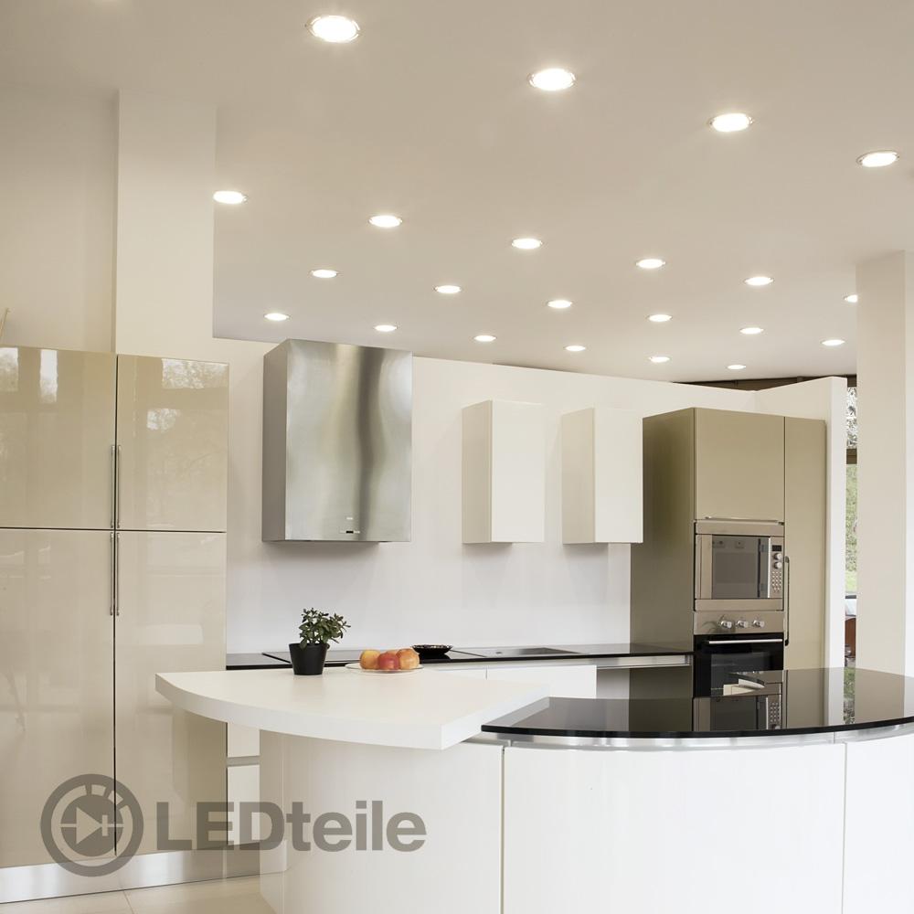 10x led einbaustrahler 3w 6w 9w warmweiss einbauleuchte flach set lampe 230v smd ebay. Black Bedroom Furniture Sets. Home Design Ideas